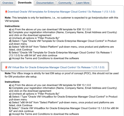 Implement VM Virtual Box for OEM 13c | OraManageability